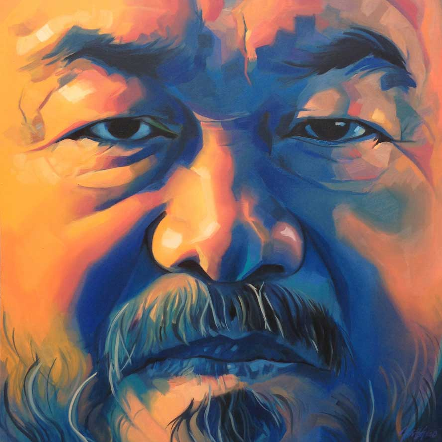 "Ai Wei Wei, Oil on Canvas 36""x36"""