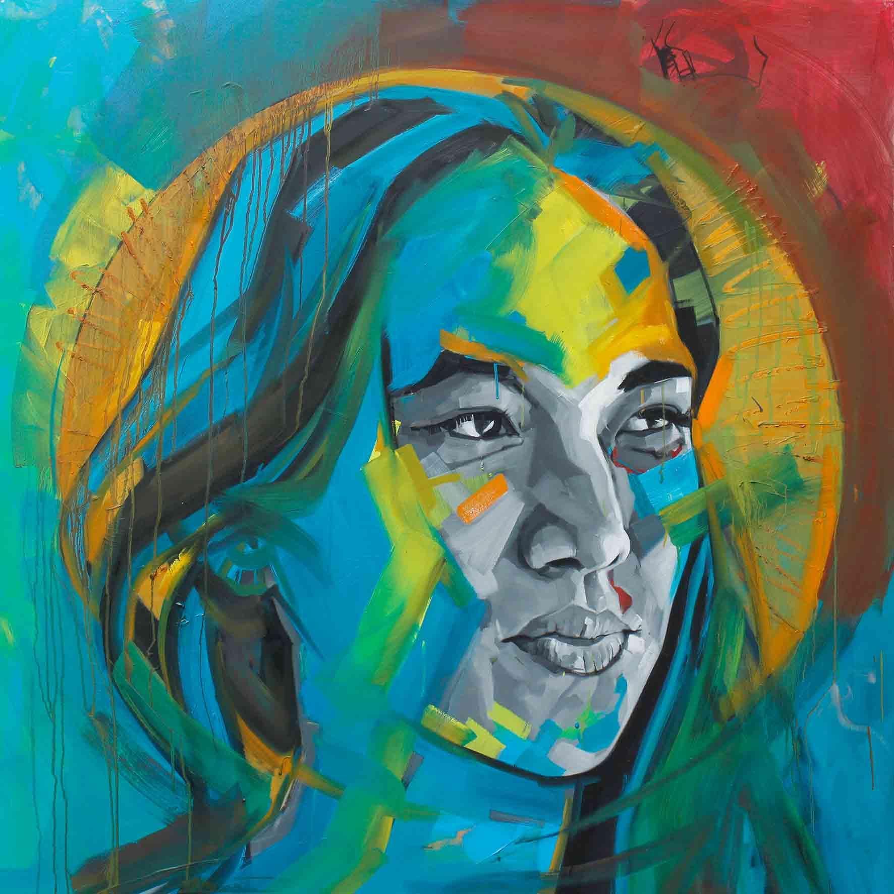 Ayisha, Oil on Canvas 48×48 Inches