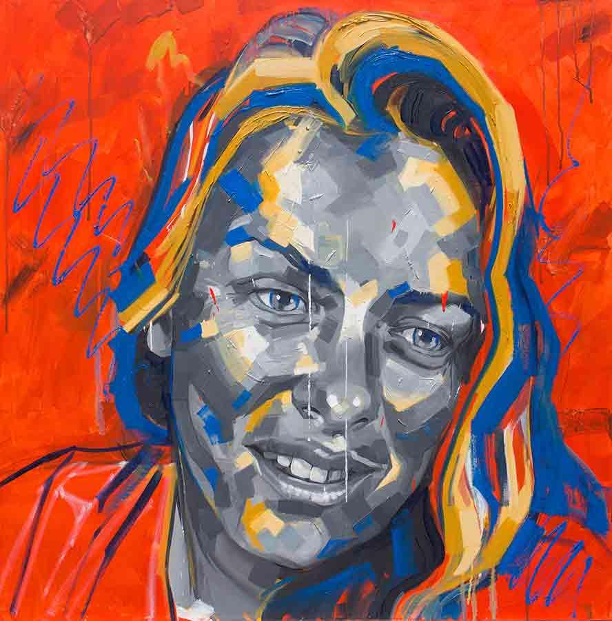 Karen 90 x 90cm, Oil on Canvas