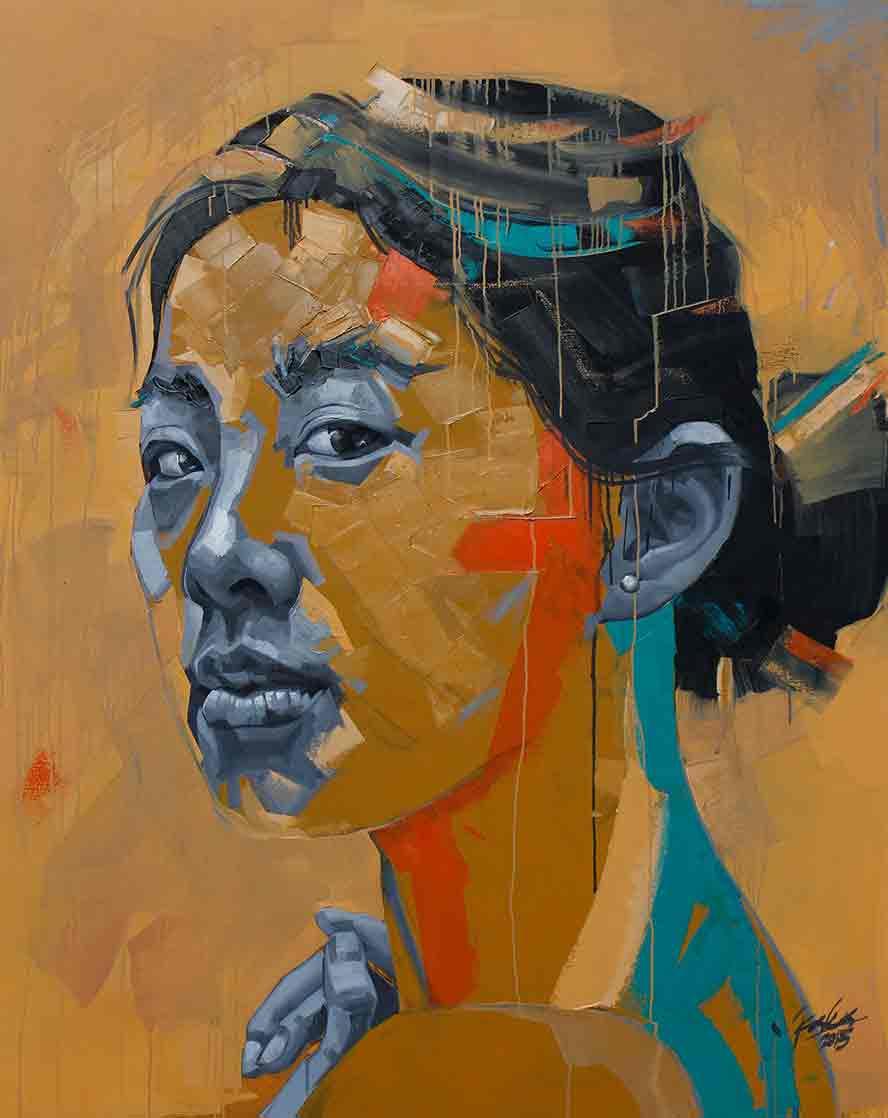 The Innocent Gaze of Nam 150 x 120cm, Oil on Canvas