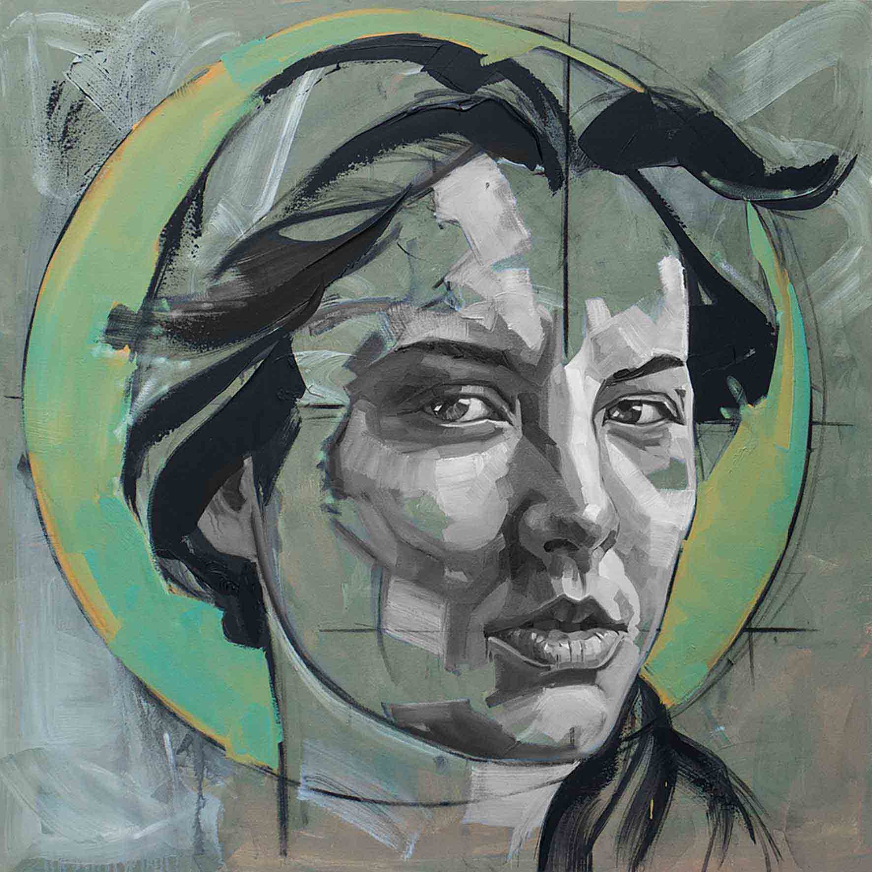 Kristal, Oil on Canvas 48×48 Inches