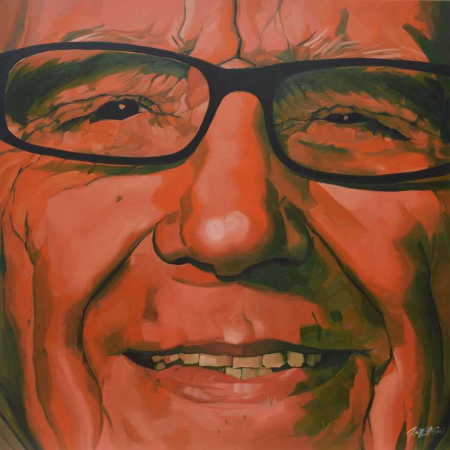 "Rupert Murdoch, Oil on Canvas 36""x36"""