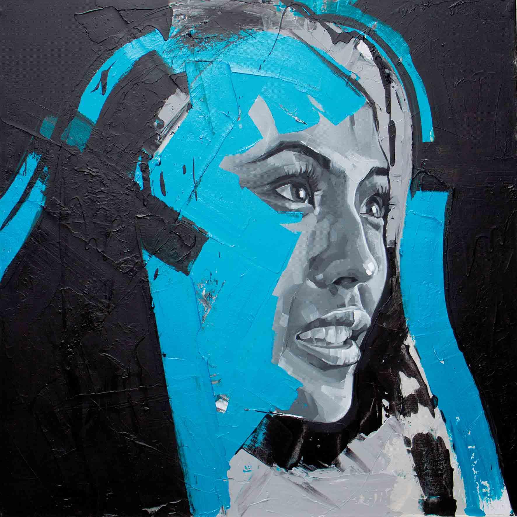 Elaine Leung, Oil on Canvas 90x90cm