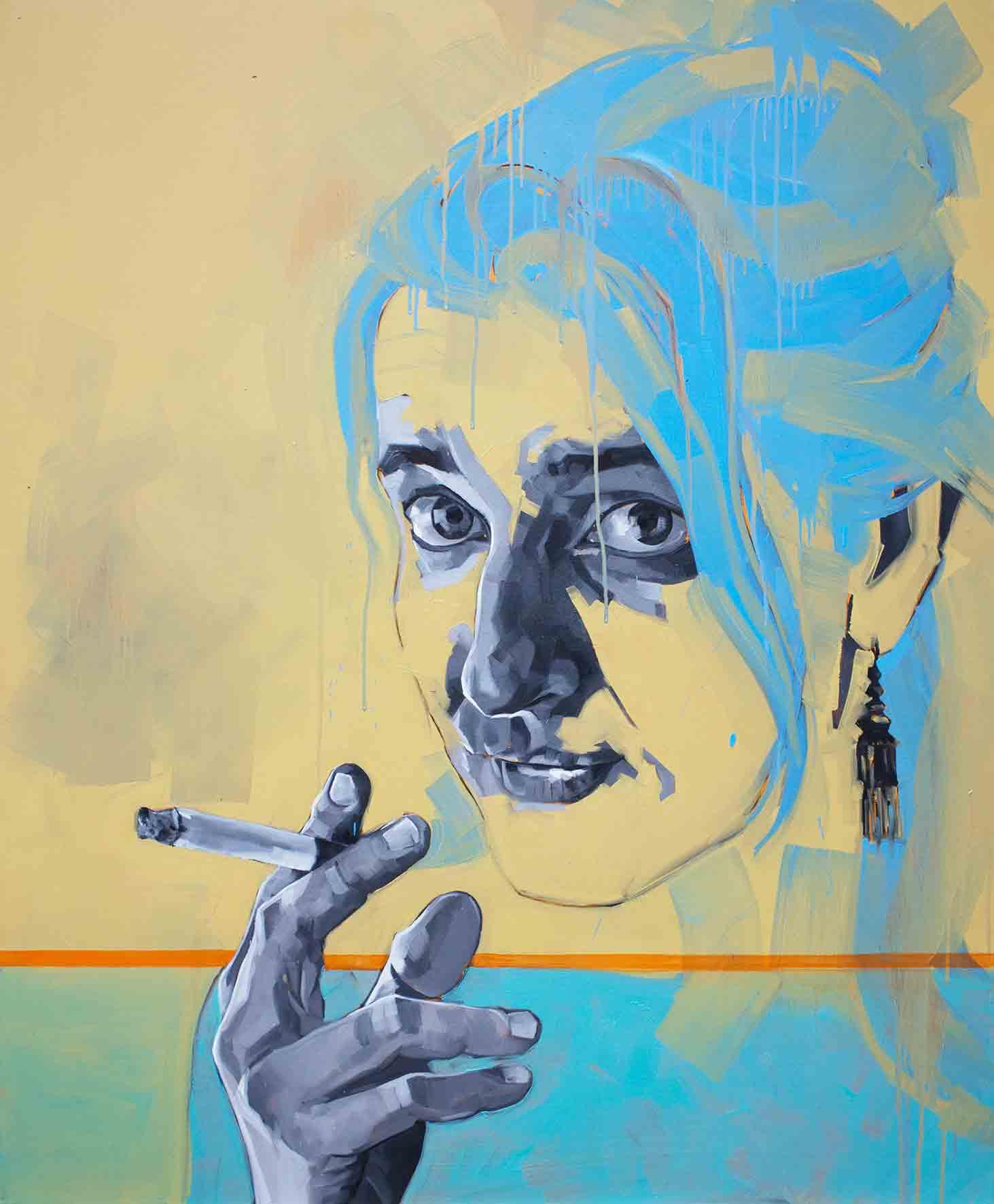 Helene Dano I , Oil on Canvas 120 x 100cm