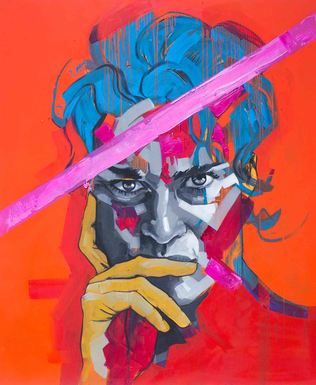 Liza Vetta-Crimson, Oil on Canvas 120 x 100cm