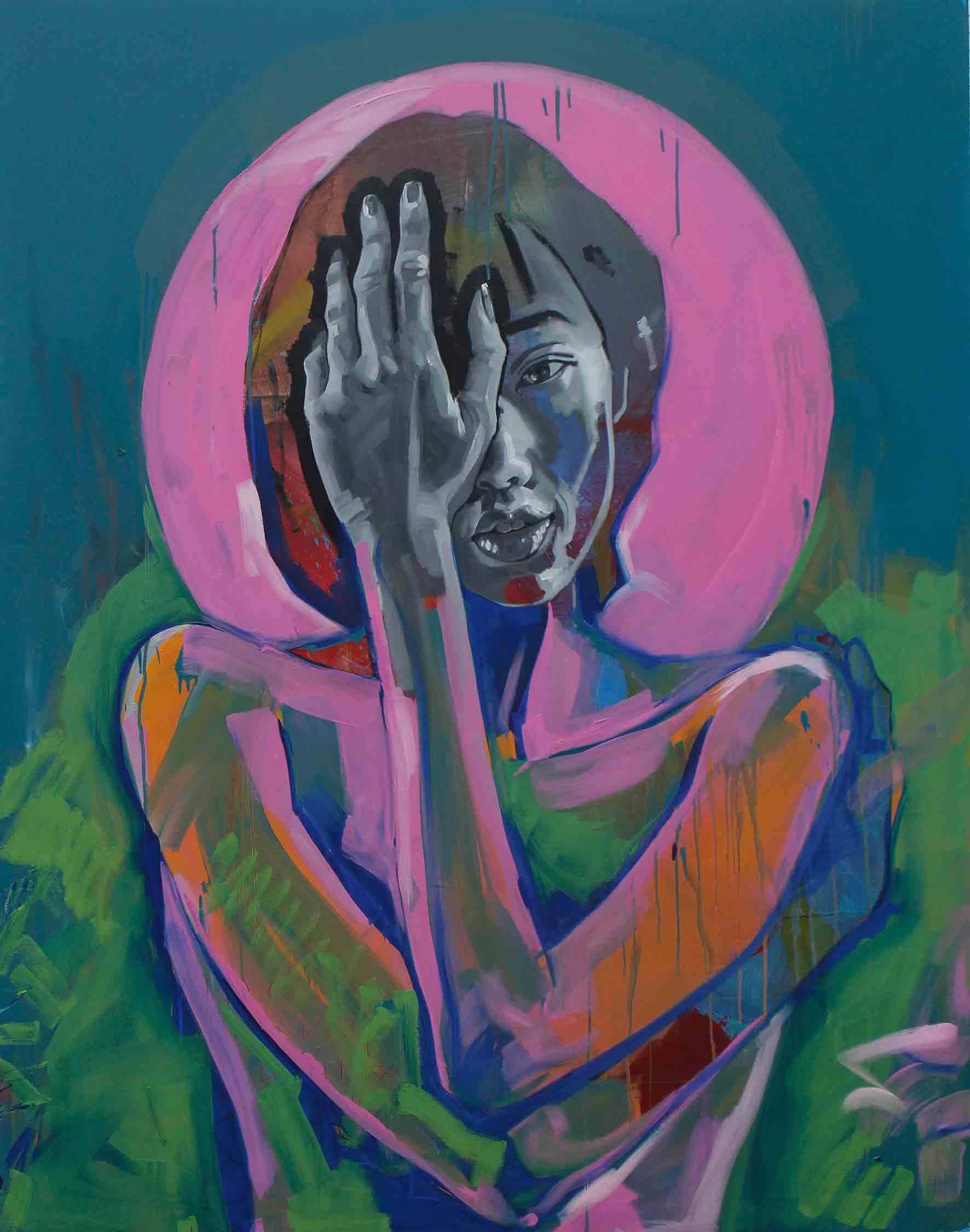 Angie, Oil on Canvas 48×60 inches