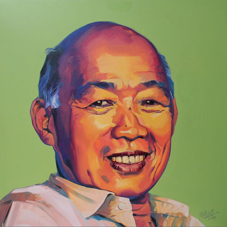 """Mr. Hiew Nyuk Yin,  Oil on Canvas 36""""X36"""""""