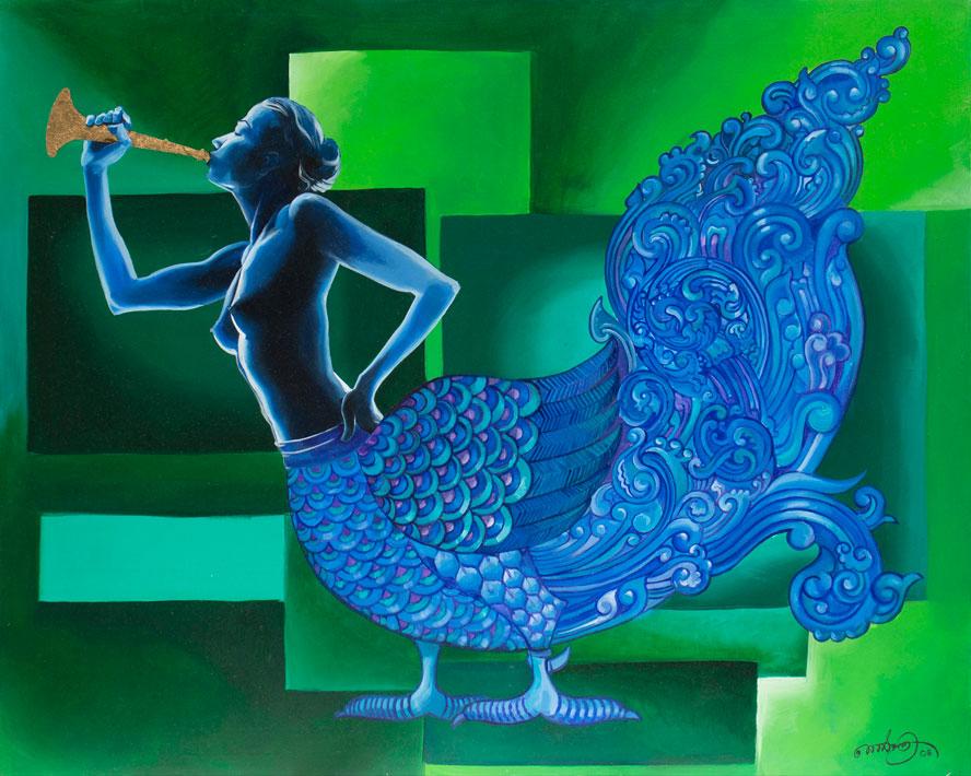"""Sandakinduri,  Oil on Canvas 48""""X60"""""""